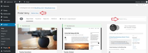 vytvorenie web stranky vo wordpresse krok 2 750x273@2x 600x218 - Podrobný návod ako si vytvoriť vlastnú web stránku
