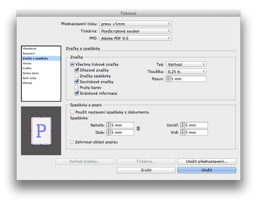 export as pdf a indesign