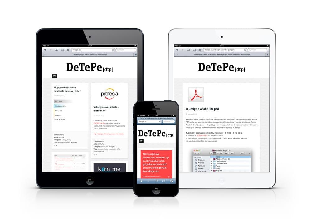 mobilne zariadenia - DeTePe [dtp] aj na mobilných zariadeniach