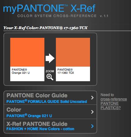 myPANTONE X Ref - myPANTONE™ X-Ref