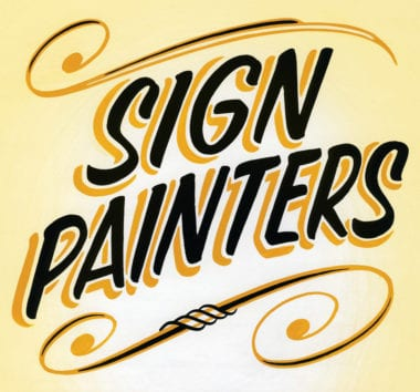 bloggersigns 380x354 - Ručné maľované – nový dokument o Sign Painters