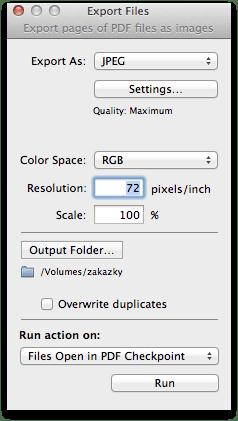 export - PDF Checkpoint – kontrola PDF súborov
