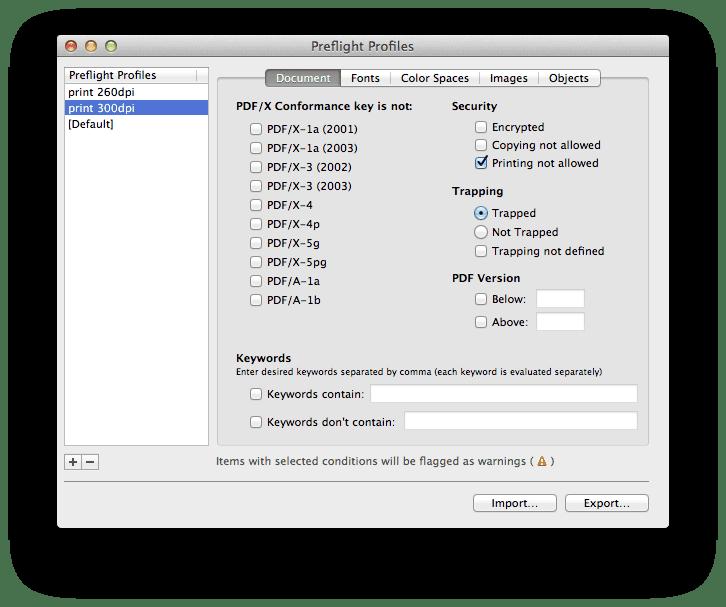 profil1 - PDF Checkpoint – kontrola PDF súborov