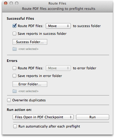 route - PDF Checkpoint – kontrola PDF súborov