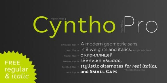 107852 580x290 - Font dňa – Cyntho Pro (zľava 50%)