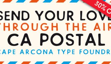 111979 380x220 - Font dňa – CA Postal (cena 27,30$)