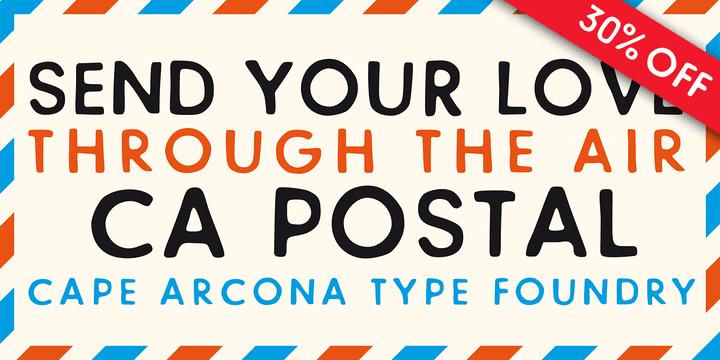 111979 - Font dňa – CA Postal (cena 27,30$)