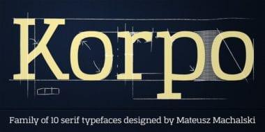 107332 380x190 - Font dňa – Korpo Serif