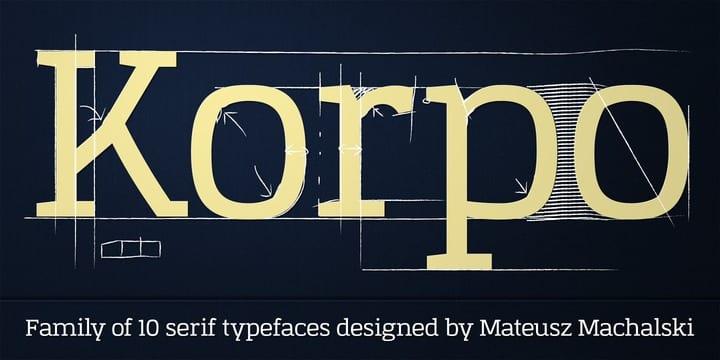 107332 - Font dňa – Korpo Serif