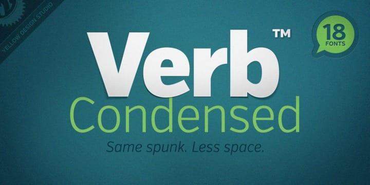 111298 - Font dňa – Verb Condensed (9$ za komplet)