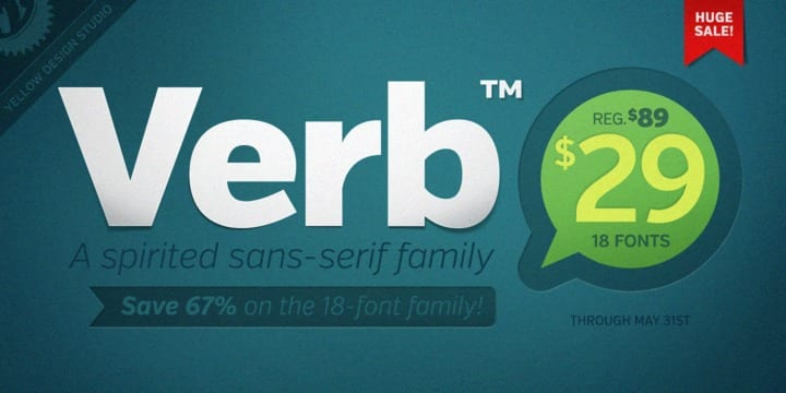 111300 - Font dňa – Verb (29$ za komplet)