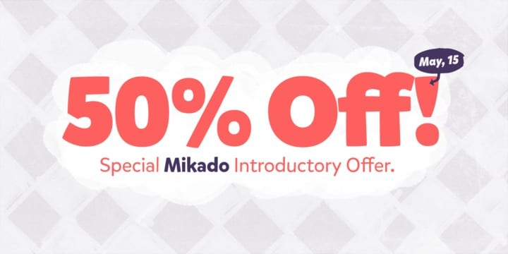 111340 - Font dňa – Mikado (zľava 50% do 15. mája)