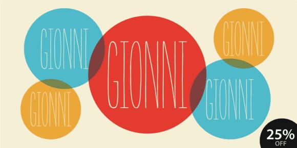 112738 580x290 - Font dňa – Gionni (zľava 25%)