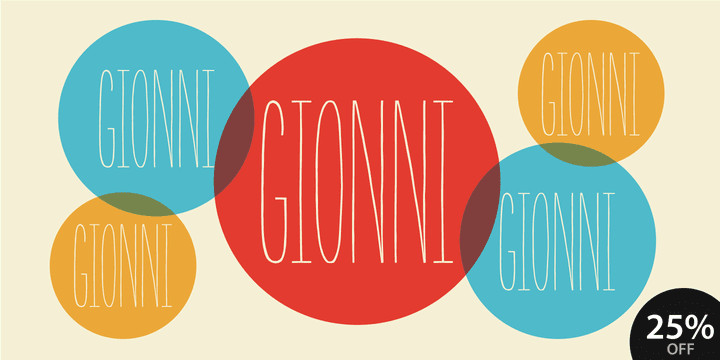 112738 - Font dňa – Gionni (zľava 25%)