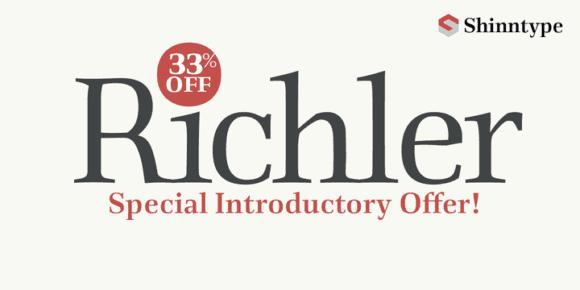 113027 580x290 - Font dňa – Richler (zľava 33%)