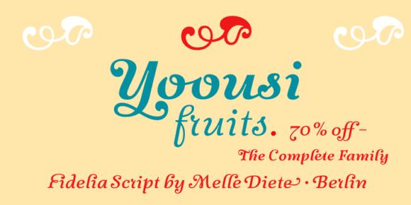 113357 580x290 - Font dňa – Fidelia Script Family (zľava 70%)