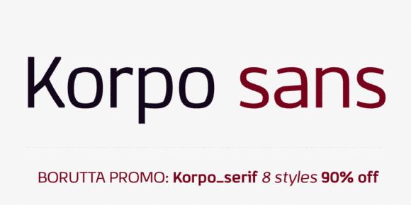 114251 580x290 - Font dňa – Korpo Sans (zľava 90%, od 2,90$)