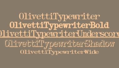 73123 380x220 - Font dňa – Olivetti Typewriter (zľava 75%)