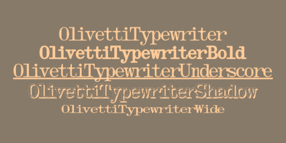 73123 580x290 - Font dňa – Olivetti Typewriter (zľava 75%)