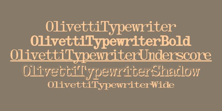 73123 - Font dňa – Olivetti Typewriter (zľava 75%)