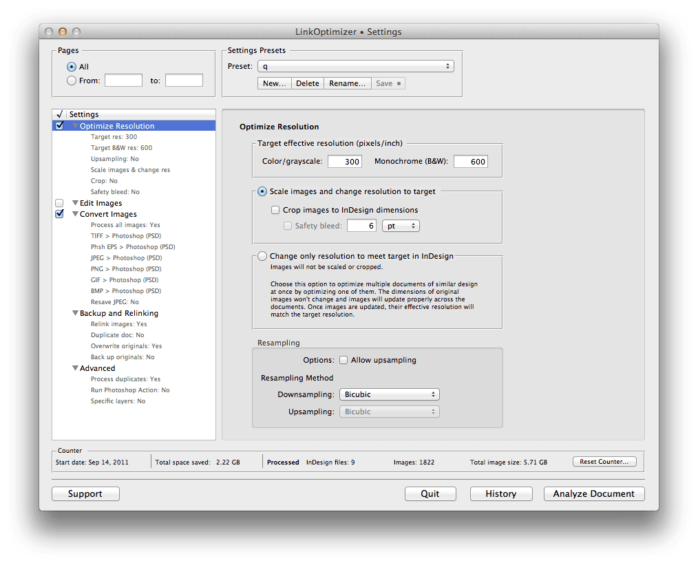 Zevrix LinkOptimizer 1 - Zevrix LinkOptimizer – automatické zmenšovanie veľkosti linkovaných obrázkov pre InDesign