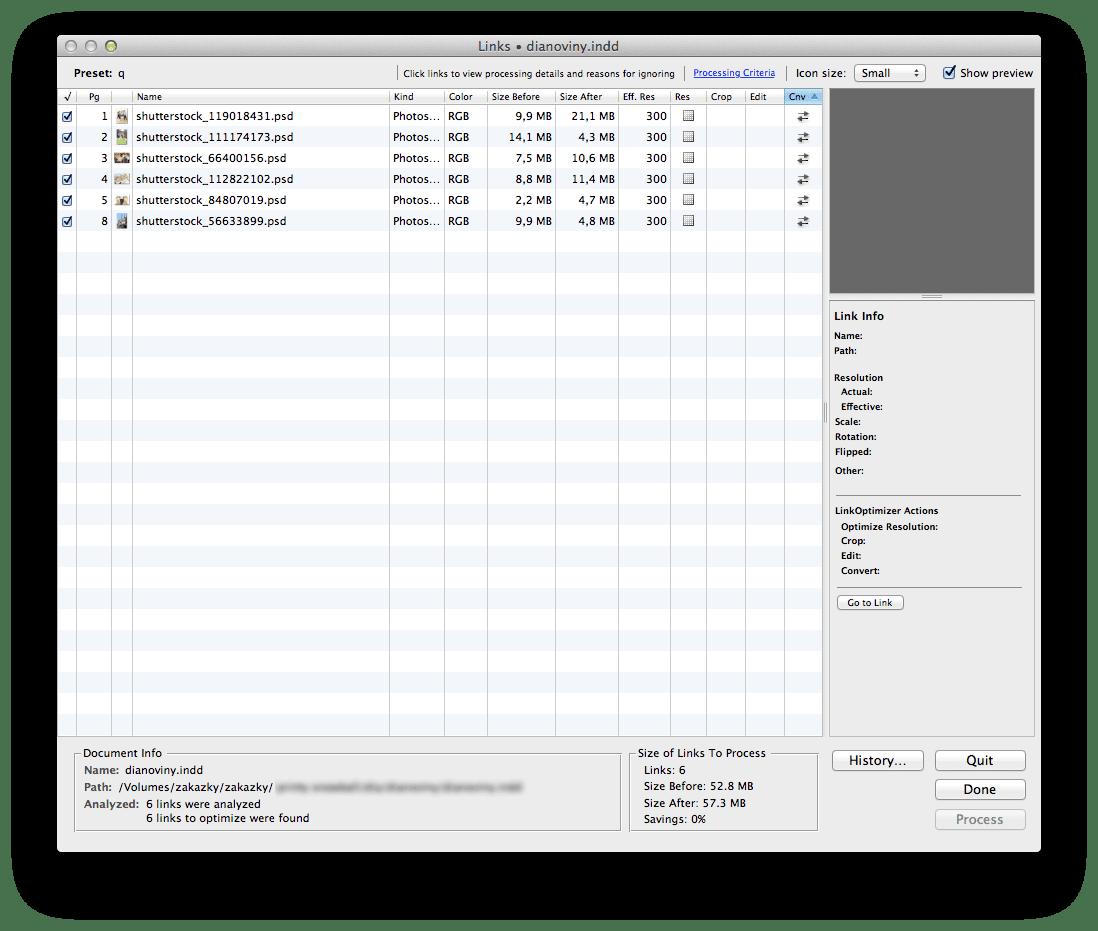 Zevrix LinkOptimizer 2 - Zevrix LinkOptimizer – automatické zmenšovanie veľkosti linkovaných obrázkov pre InDesign