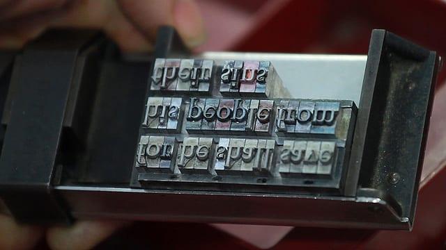 fxw5di - Upside Down, Left To Right: A Letterpress Film