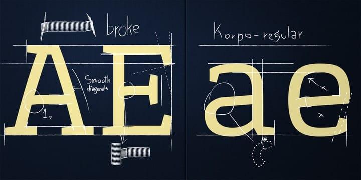 107329 - Font dňa – Korpo Serif (zľava 80%, od 5$)
