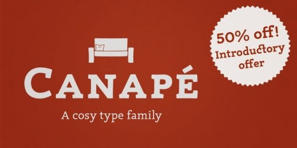113076 580x290 - Font dňa – Canapé (zľava 50%, od 24,50$)