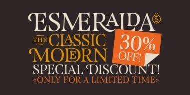 113792 380x190 - Font dňa – Esmeralda Pro (zľava 30%)