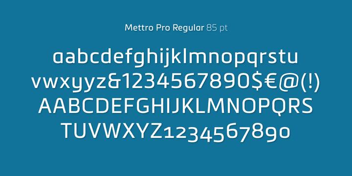 114114 - Font dňa – Mettro Pro (zľava 70%)