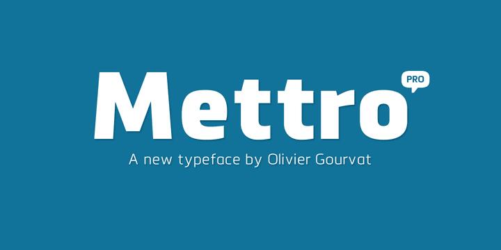 114116 - Font dňa – Mettro Pro (zľava 70%)