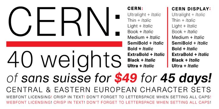 116312 - Font dňa – Cern (kompletná rodina 48,04$)