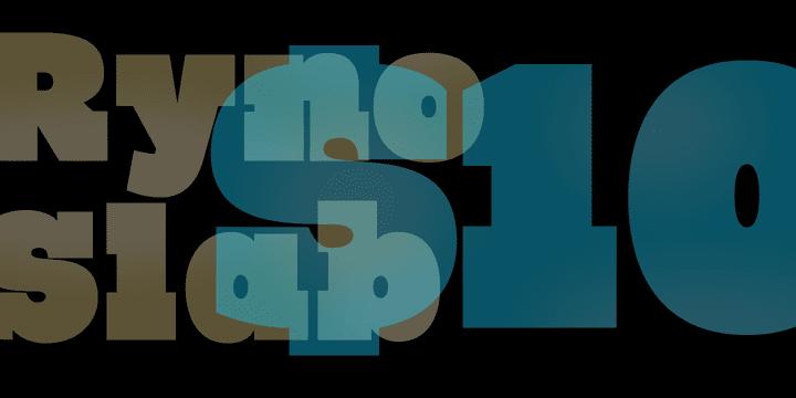 116424 - Font dňa – Ryno Slab (10,00$)