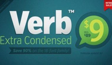 116515 380x220 - Font dňa – Verb Extra Condensed (od 9$)