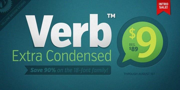 116515 - Font dňa – Verb Extra Condensed (od 9$)