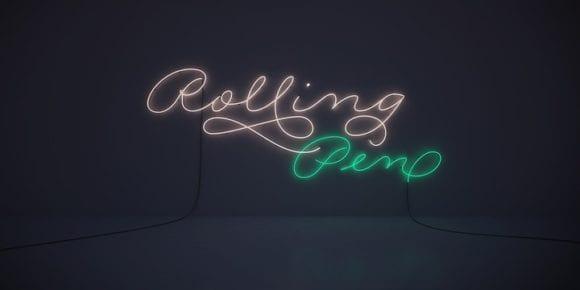 116984 580x290 - Font dňa – Rolling Pen (zľava 30%, od 13,30$)