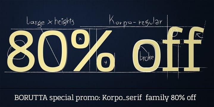117020 - Font dňa – Korpo Serif (zľava 80%, od 5$)