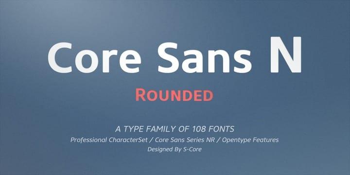 114122 - Font dňa – Core Sans N (zľava 80%, od 4,80$)