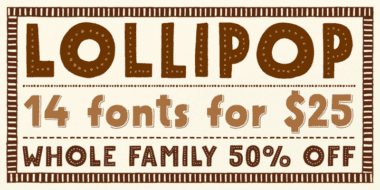 118140 380x190 - Font dňa – Mrs Lollipop (rodina 25,00$)