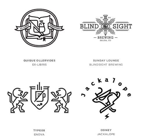 12 line craft - Tohtoročné trendy pre dizajn lôg