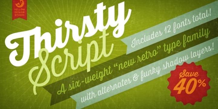 129044 - Font dňa – Thirsty Script (zľava 40%, komplet 29,00$)