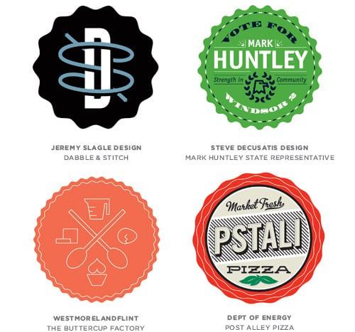 13 badges - Tohtoročné trendy pre dizajn lôg