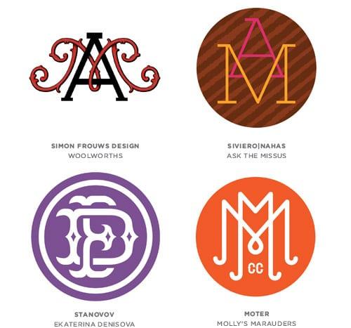 15 monograms - Tohtoročné trendy pre dizajn lôg