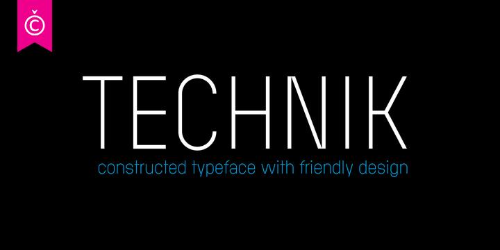 925271 - Font dňa – Technik (zľava 75%, od 6,25$)