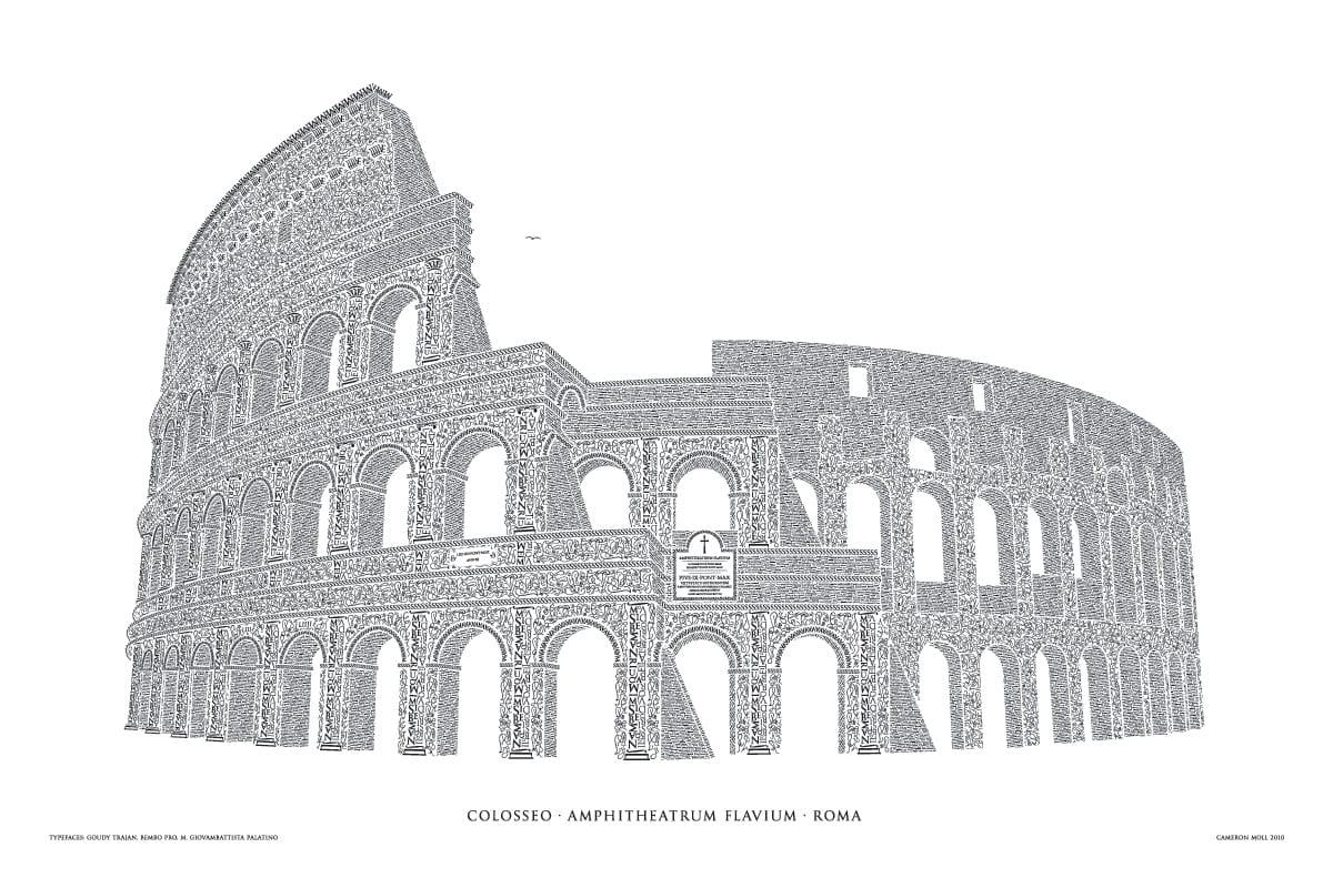 colosseo megabig - Remeselník a detailista. Krátky príbeh Kolosea z písmen.