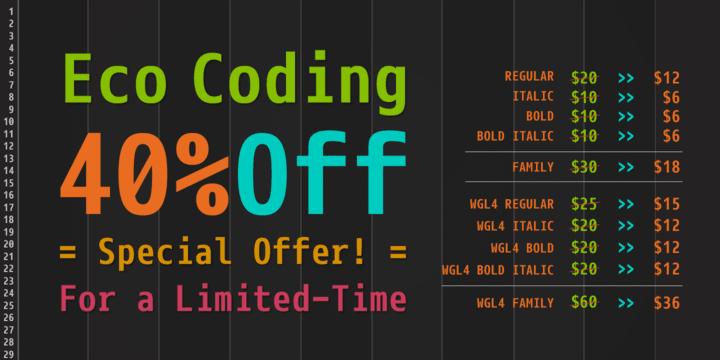 103915 - Font dňa – Eco Coding (od 6,00$)