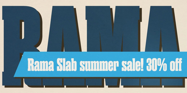 116649 - Font dňa – Rama Slab (zľava 30%, od 14,00$)