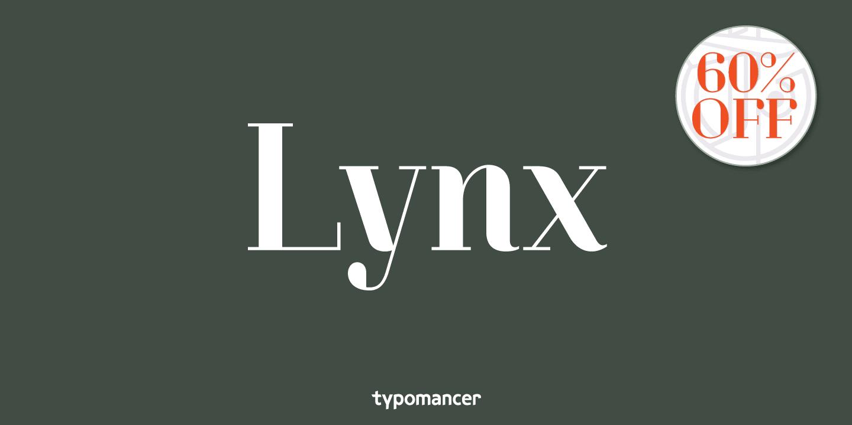 1181862 - Font dňa – Lynx (zľava 60%, od 10,40$)