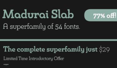 119316 380x220 - Font dňa – Madurai Slab (rodina 17,02$)